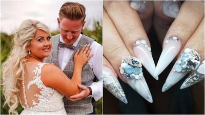 亡父無緣牽女兒手進禮堂 新娘用「骨灰做美甲」:就好像被爸爸牽著