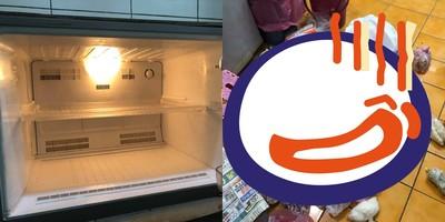 媽餵食「冰箱炸開」 網笑:是財庫
