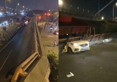 無錫高架橋坍塌 已知有2傷送醫