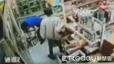 雜貨店老闆娘蹲下拿啤酒 客人拿石塊砸破她的頭