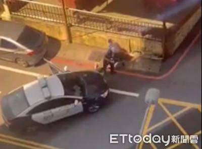 偷車賊衝撞警車束手就逮 網:宛如電影情節