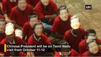印度2000學生「戴習近平面具」歡迎到來!