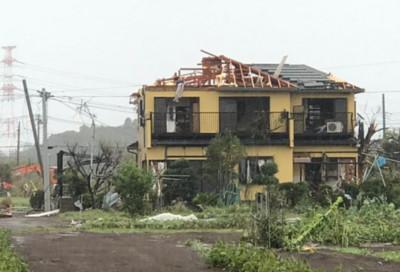 哈吉貝強風襲日1死5傷 屋頂被吹飛