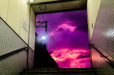 哈吉貝登陸日本前夕 魔幻天空降臨