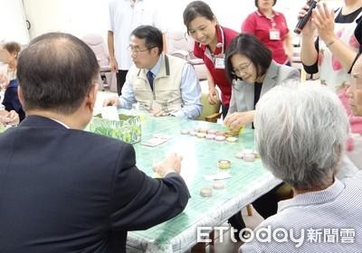 蔡英文參訪奇美復華日照中心