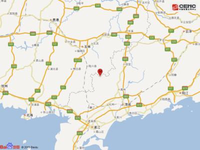 即/廣西玉林深夜地震 芮氏規模5.2