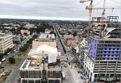 美國紐奧良飯店「垂直骨牌式坍塌」1死18傷2受困
