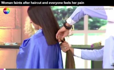 女模上節目「長髮突被剪掉30cm」崩潰昏倒