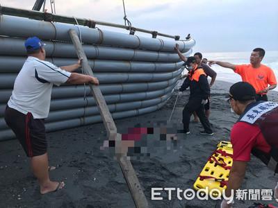 台東太麻里膠筏翻覆 女子遭壓倒臥身亡