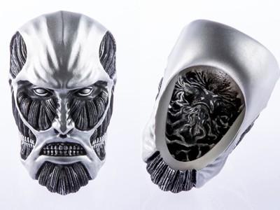 用純銀打造《進擊的巨人》主題戒指