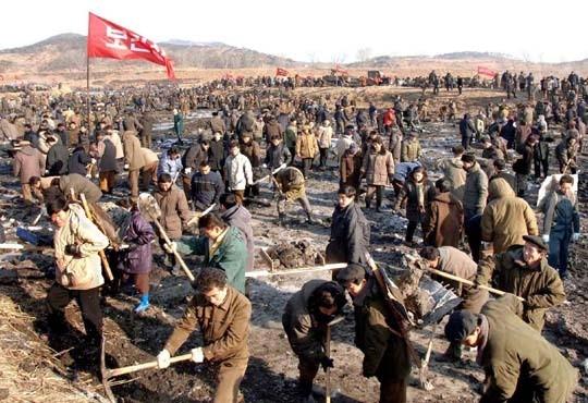▲▼北韓曾經歷大饑荒「苦難的行軍」(圖/翻攝自steemit)