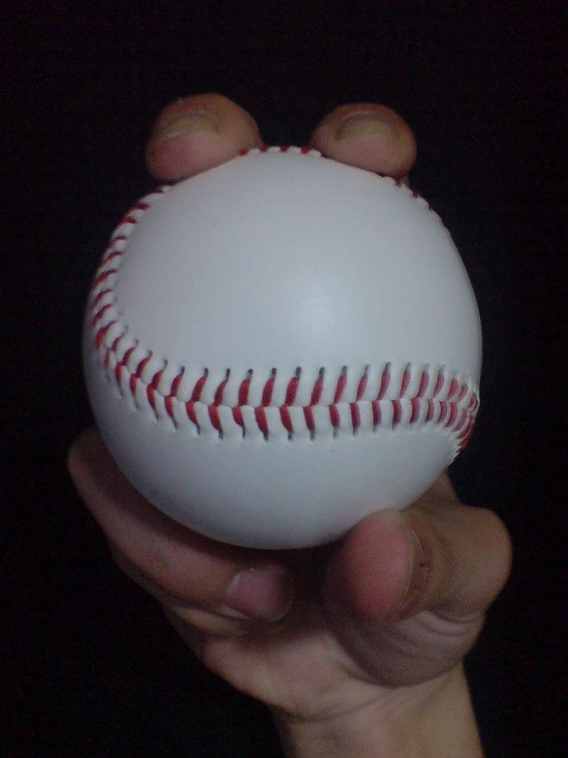 ▲▼棒球握法。(圖/翻攝自維基百科)