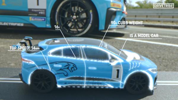 ▲Jaguar I-pace 電刷車vs實車加速對決。(圖/翻攝Drivetribe)
