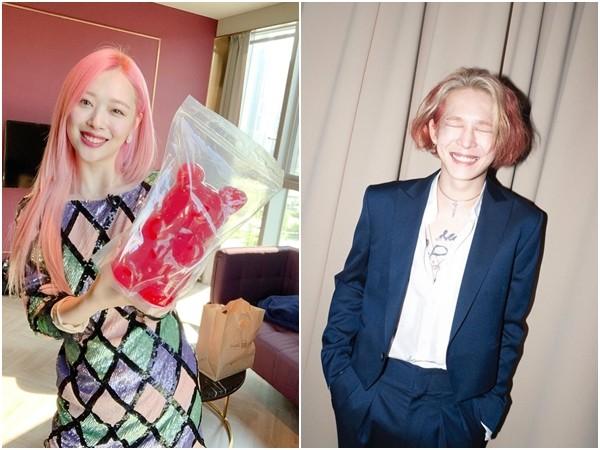 ▲南太鉉和雪莉是同齡好朋友。(圖/翻攝自Instagram/jelly_jilli、souththth)