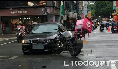 外送員撞到人 機車強制險會啟動