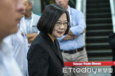 蔡英文:最期待韓國瑜講「有決心保衛國家主權」