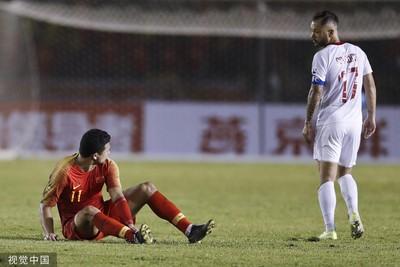 中國男足射35球未進首次未贏菲律賓