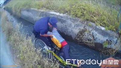 醉男跌進溝渠 巡邏警急拉人救命