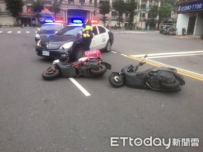 熊貓外送違規迴轉 機車追撞2傷