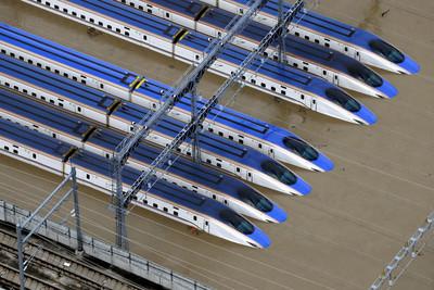 新幹線120節車廂泡水報廢機率大