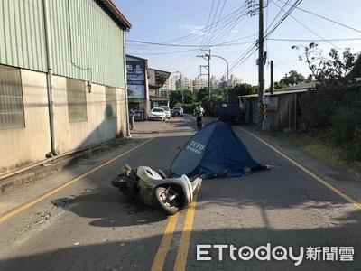 騎士遭擦撞摔倒 遭對向貨車輾頭慘死