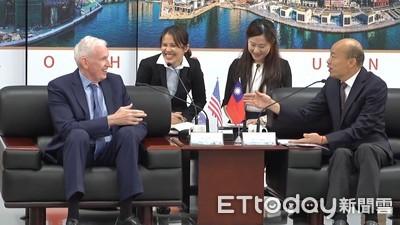 韓國瑜銷假半天!會面AIT主席莫健