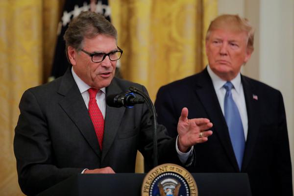 ▲▼川普政府的能源部長裴利(Rick Perry)。(圖/路透)