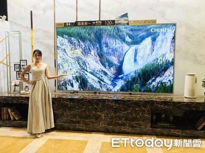 奇美120吋市售最大液晶電視登場
