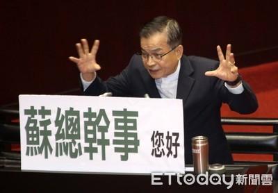 蘇貞昌諷賴士葆:替韓辯護很可惜
