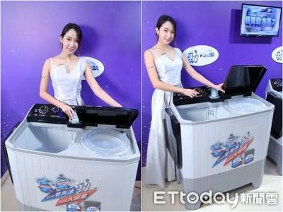 奇美推復古家電 雙槽洗衣機上市