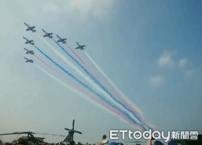 台南空軍基地開放人潮爆棚