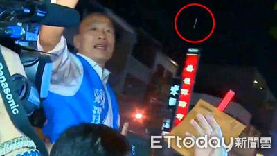 韓國瑜被丟雞蛋 民進黨火速聲明