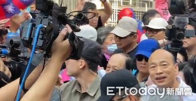 韓國瑜遭蛋襲事件後維安警力提升 警局長坐鎮