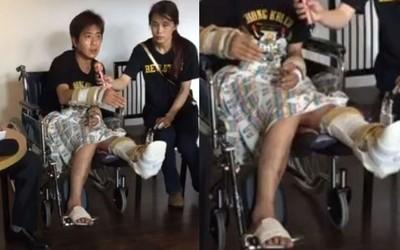 吳小哲遭友斷手腳 首露面嘆:像個廢人