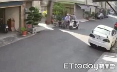 台南恐怖騎士!當街對推輪椅嬤「巴頭」10多下