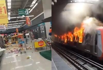 智利暴動8死 超市遇洗劫地鐵也被燒
