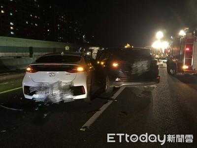 即/國道3號深夜4車連撞 7人受傷送醫