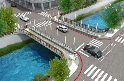 竹北莊敬三分兩段 橫跨橋2021年可望完工