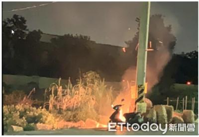 機車燒成骨架 街友打火機縱火