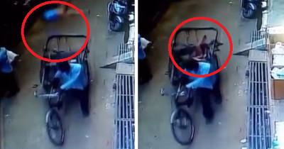 3歲童11m摔下 竟「意外降落」黃包車後座