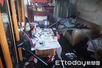公寓火警女子受困 打火兄弟救出送醫