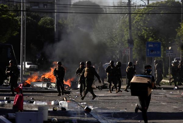 ▲▼智利示威衝突。(圖/路透)