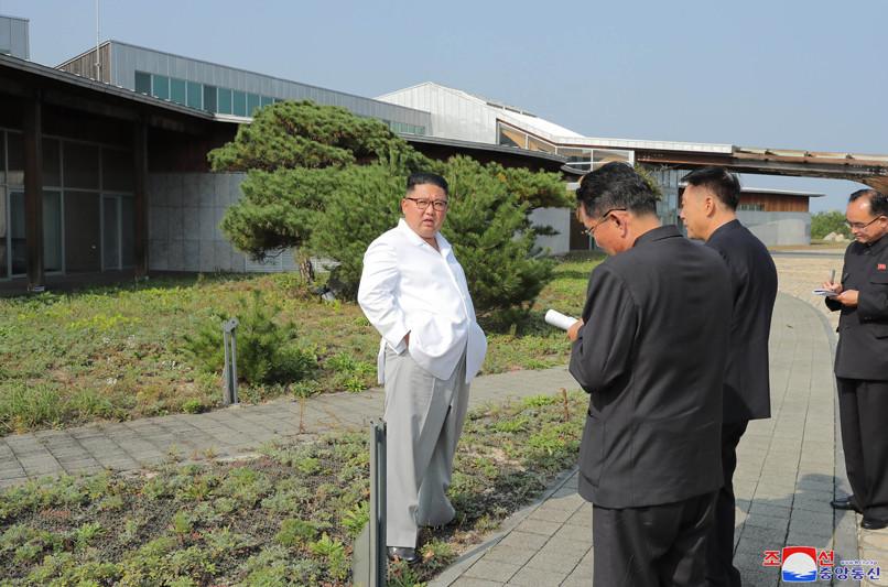 ▲▼金正恩要求拆除金剛山南韓設施。(圖/朝中社)
