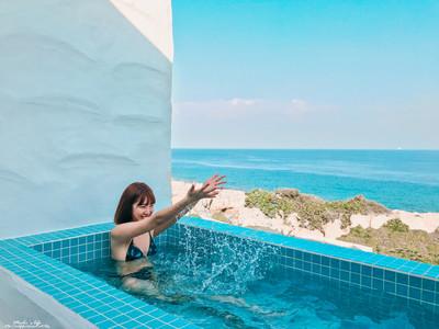 小琉球民宿有「純白希臘風」泳池