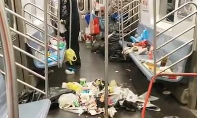 清潔隊遭裁員!紐約地鐵車廂噁爆