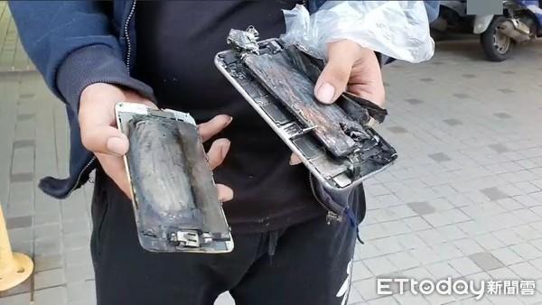 睡前iPhone 6S放床頭充電...他3hrs後驚見「融化炸開」!床墊枕頭一片焦黑