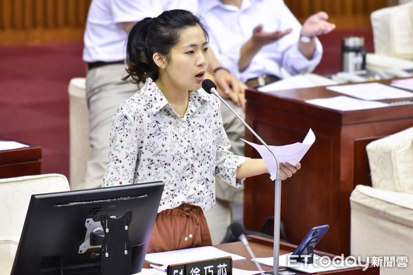 ▲▼台北市市議員徐巧芯質詢。(圖/記者李毓康攝)