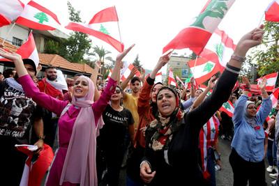 跳舞取代暴力 黎巴嫩示威變嘉年華