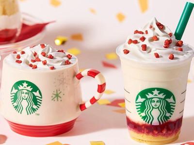 日本星巴克聖誕草莓蛋糕星冰樂