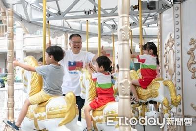 陳杰將競選總部 打造成遊樂園